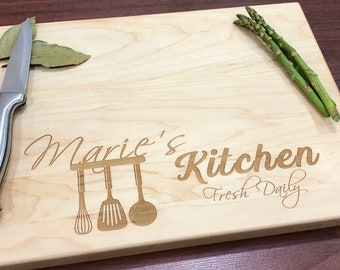 Attirant Personalized Cutting Board   Mothers Day Gift   Kitchen Gift   Cutting  Board   Mom Gift   Cooking Gift   Kitchen Gift   Gifts For Her