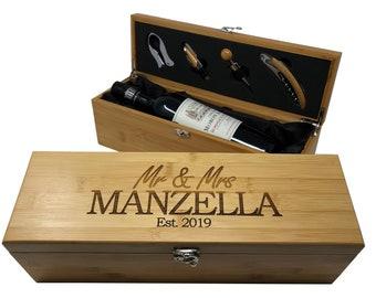 Custom Wine Box Etsy