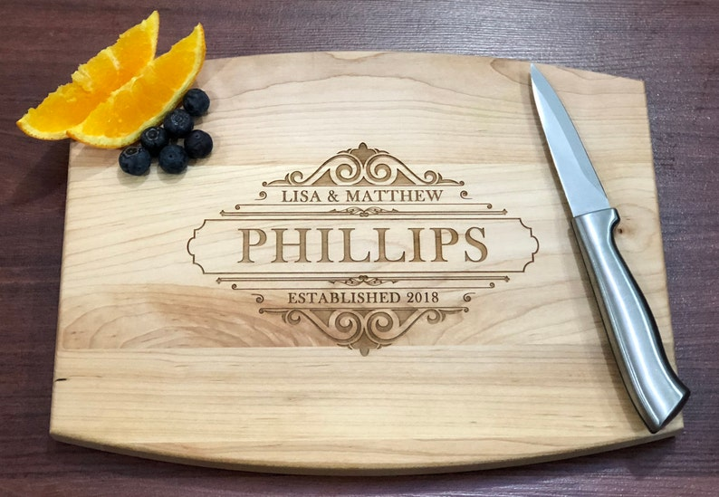 Engagement Realtor Gift Maple Cutting Board Custom Cutting Board Personalized Kitchen Wedding Shower Gift New Home Gift