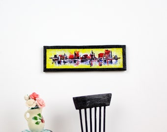 1:12 scale Abstarct Acrylic Painting On Canvas Dollhouse - River