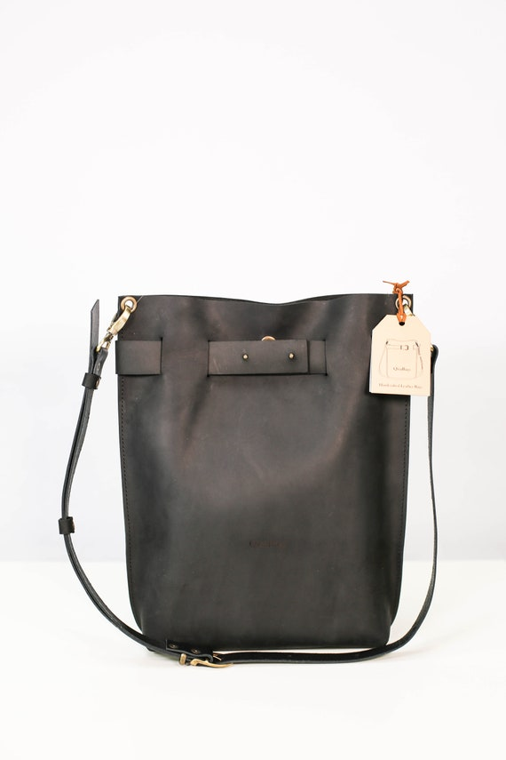 67c3005b6 Black Leather Backpack Black Leather bag Small Travel   Etsy