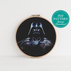 Star Wars Art Stormtrooper Republic Counted Cross Stitch Pattern Star Wars Inspired Cross Stitch Pattern Jedi Death Star Darth Vader