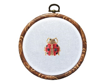 Small Woodland Animal Cross Stitch tote with Needle magnet