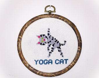 Yoga Cat Cross Sitch