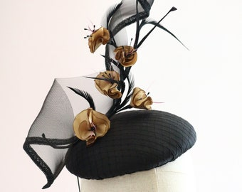 black fascinator headpiece