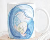 Angel inspirational quote mug, meaningful gifts for people in transition, teachers and social workers