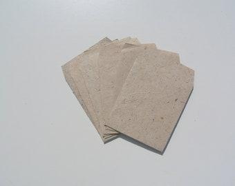 Hemp Rag Paper Envelopes . Eco Envelopes Set . Handmade Hemp Envelopes . Set of 5