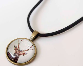 Deer with Attitude, Cabochon Necklace