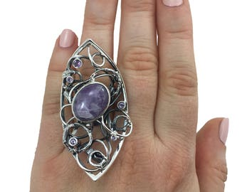 Handmade Silver Ring with Amethyst