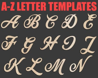 a z letter laser cut template dxf svg eps png formats 26 letter plan cut laser cutting cnc plan cut file clipart cricut file download