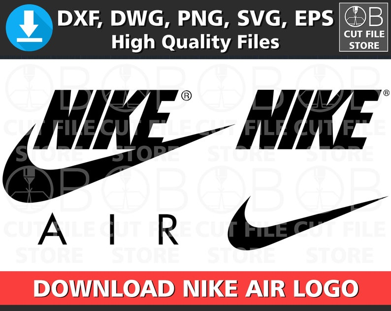 low priced ad350 d502f NIKE AIR LOGO Dxf Dwg Svg Png Eps Format Download Nike  Etsy