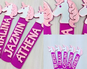 Personalised Children/'s Metal Bookmark Princess Child School Books Fun Gift Book