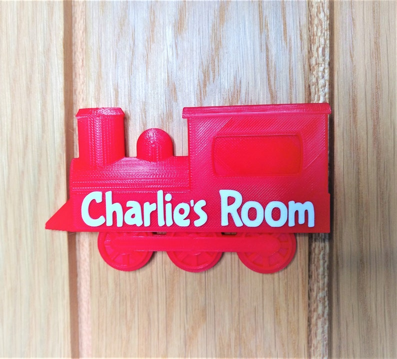 Personalised Train Door Sign, Bespoke Train Name Plate, Unique Train  Children\'s Door Plaque, Personalized kids room, Under 10 pounds, gift