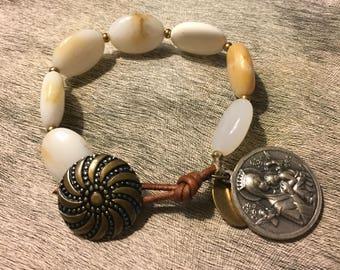 Handmade African Opal Bracelet