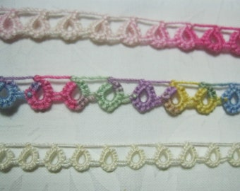 One Yard of Vintage Cotton Tatted Lace (4)