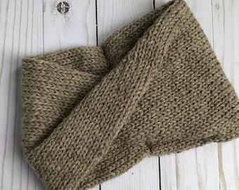 Taupe turban / headband / ear-warmer / Ready to Ship