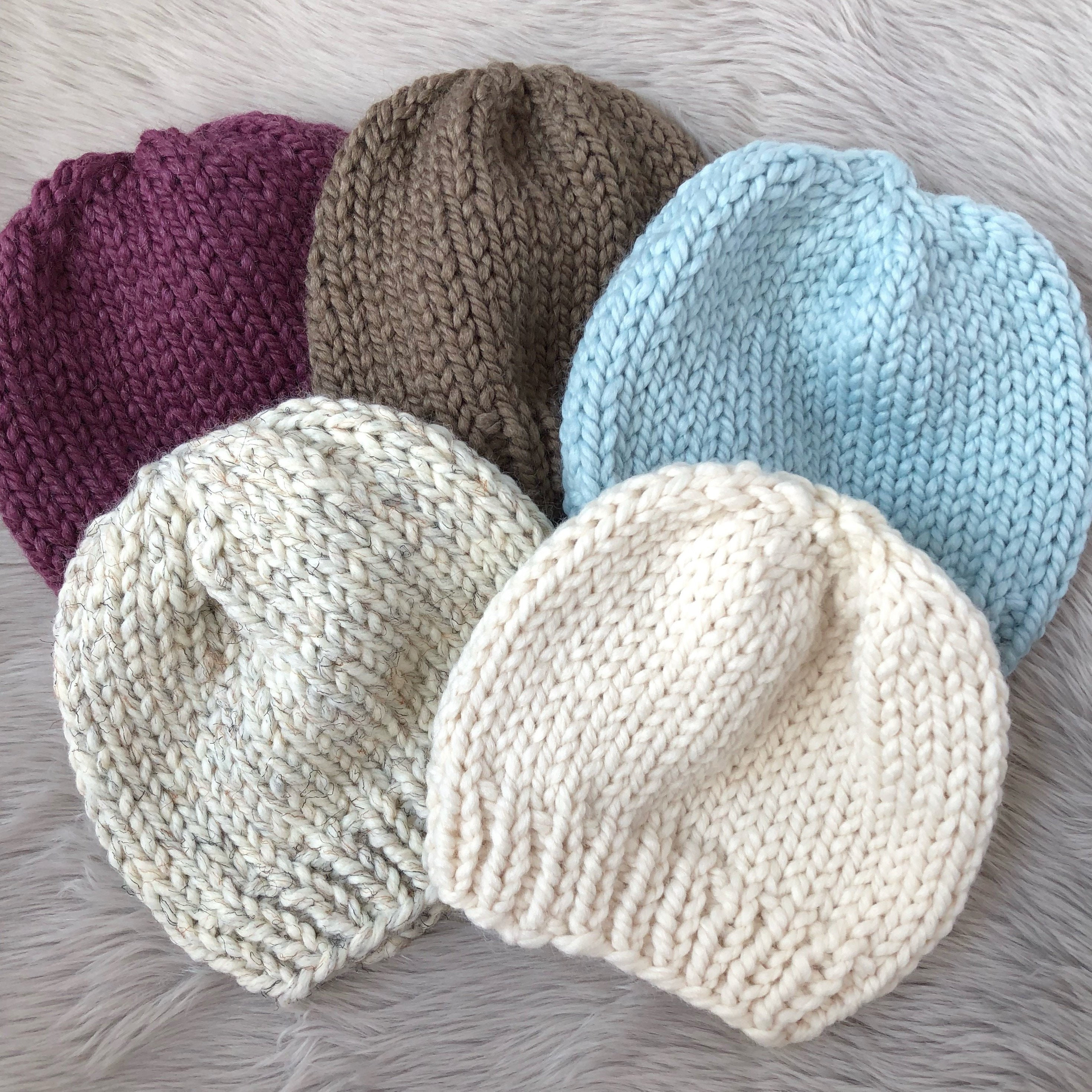 Hillside Basic Beanie   Knitted Hat   Knitted Toque   Ready to  9de4a8ee46c