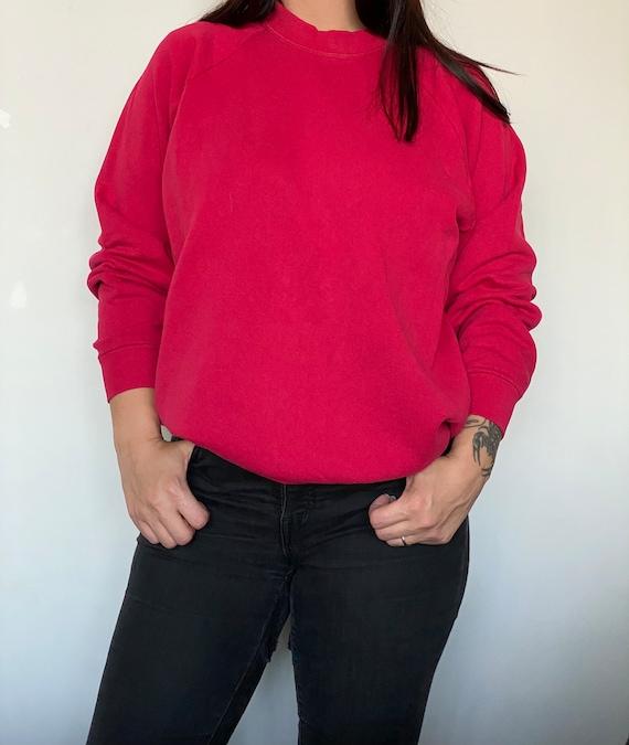 Vintage red sweatshirt fruit of the loom