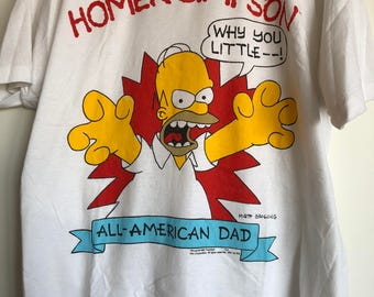 Vintage 90s Homer Simpson T Shirt