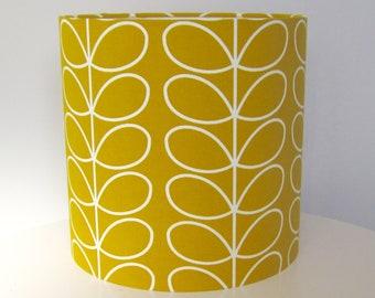 Orla Kiely ochre / mustard lampshade, 20cm, 25cm, 30cm, ceiling or lamp