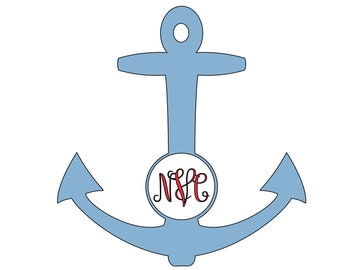 Anchor Decal//Monogrammed//Personalized