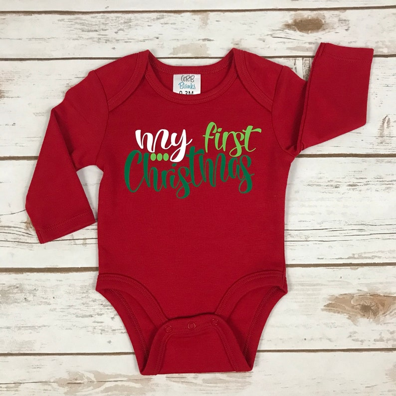 30c039d34b7d My First Christmas Outfit Baby Christmas Outfit My 1st | Etsy