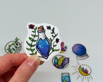 Colorful Witchy Stickers (Bundles- Botanical, Potions, Crystals)