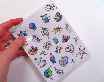 Witchy Whimsy Stickers (kiss-cut sticker sheet)