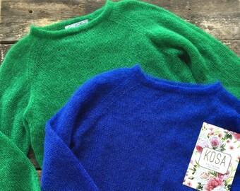 Elegant silk mohair free style sweater, oversized sweater,