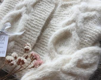 Fluffy alpaca cardigan