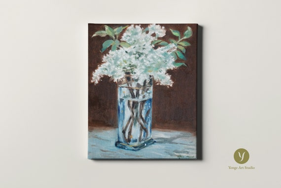 Hand Painted Copy Of Edouard Manet S White Lilacs In A Etsy