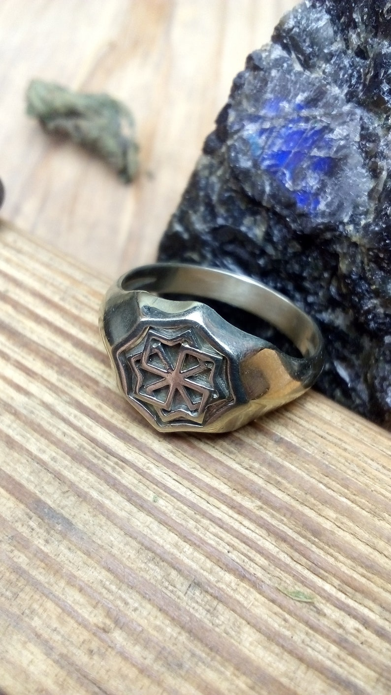 925 Sterling Silver rings Viking ring Slavic ring Nordic Jewelry Pagan  protection symbol Norse Mens ring Celtic jewelry Handcraft Brass ring