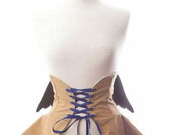 Castiel Inspired Cincher  Skirt