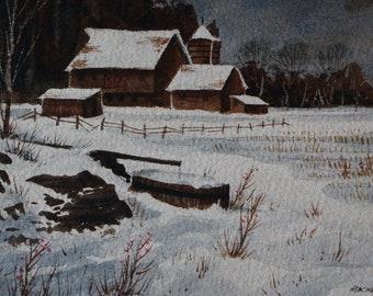 Big Brown Farm in Winter