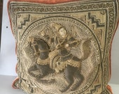 Burmese kalaga Tapestry Pillow