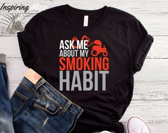 5339a7275 Ask Me About My Smoking Habit T-Shirt, Funny BBQ Shirt, Loves To Grill,  Father's Day Shirt, Barbecue Shirt, Men Cooking Gift, BBQ Gift, BBQ
