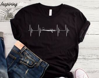 4248cf7ad Airplane Pilot Heartbeat T-Shirt, Airplane Shirt, Aviation Shirt, Plane  Pilot Shirt, Funny Pilot Shirt, Aviator Shirt, Future Pilot Shirt