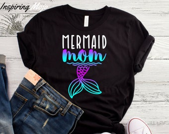 ded5708b907 Mermaid Mom T-Shirt