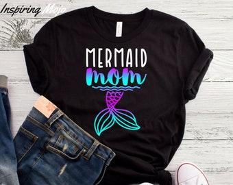 7b533617 Mermaid Mom T-Shirt, Mermaid Mama, Mermaid Shirt, Mermaid Mommy, Mermaid Mum,  Little Mermaid Mom, Mom Gift, Mother's Day Shirt, Mermaid Dad