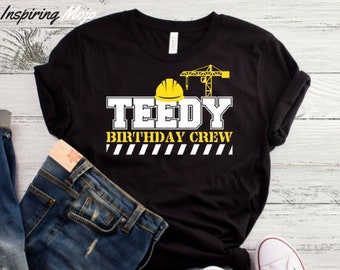 9cc36b85 Teedy Birthday Crew T-Shirt, Funny T Shirt, Gift Construction Worker,  Builder, Roofer, Handyman, Comedy Unique Gift Idea, Hilarious Dad