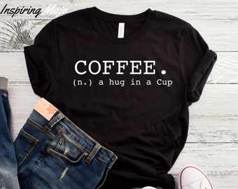 Coffee A Hug In A Cup T-Shirt, Coffee Shirt For Women, Coffee Shirt, I Run On Starbucks, Target & Amazon Prime, Mom Shirts, Shirt For Moms