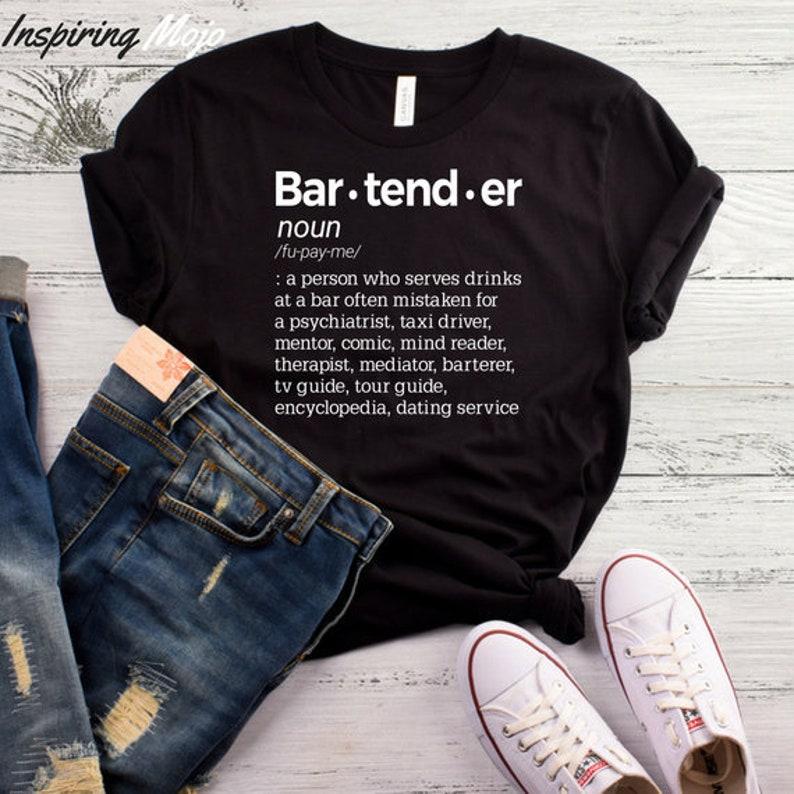 242b1adb Bartender Definition T-Shirt Funny Bartender Shirt Bartender | Etsy