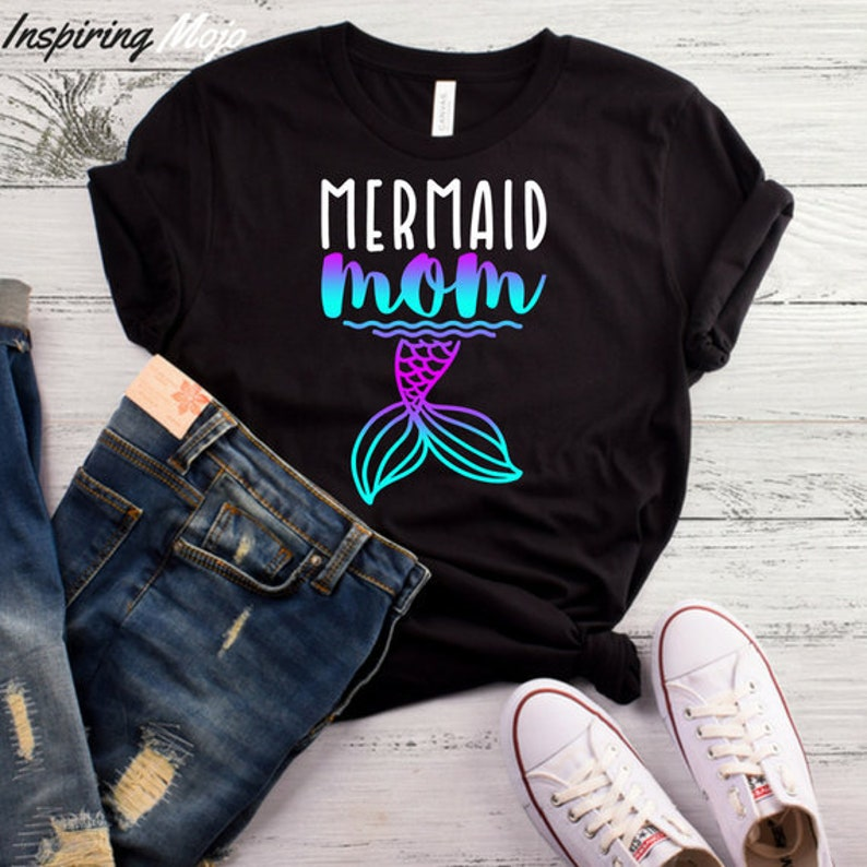 90cdba8b5e8760 Mermaid Mom T-Shirt Mermaid Mama Mermaid Shirt Mermaid