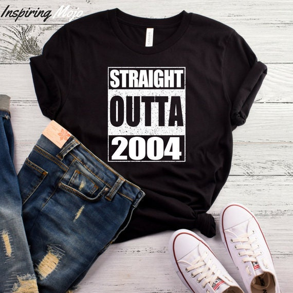 Straight Outta 2004 T Shirt 14 Years Old Fourteen