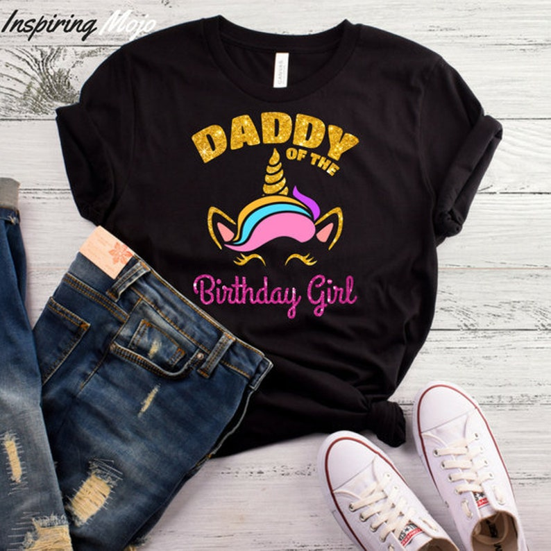 d3d19196 Daddy of the Unicorn Birthday Girl T-Shirt Unicorn Daddy | Etsy