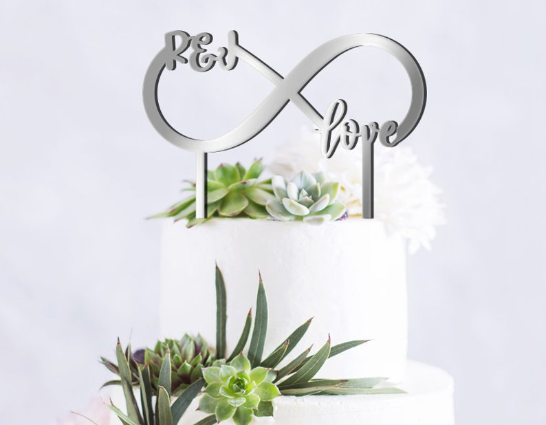 Custom Cake Toppers Infinity Sign Infinity Initials Cake Toppers Infinity Cake Toppers Wedding Cake Toppers Infinity Love Cake Toppers