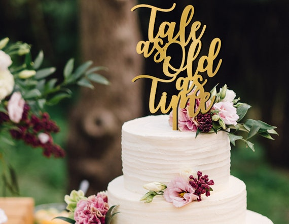 Disney wedding Tale as Old as Time Beauty and the Beast wedding cake topper