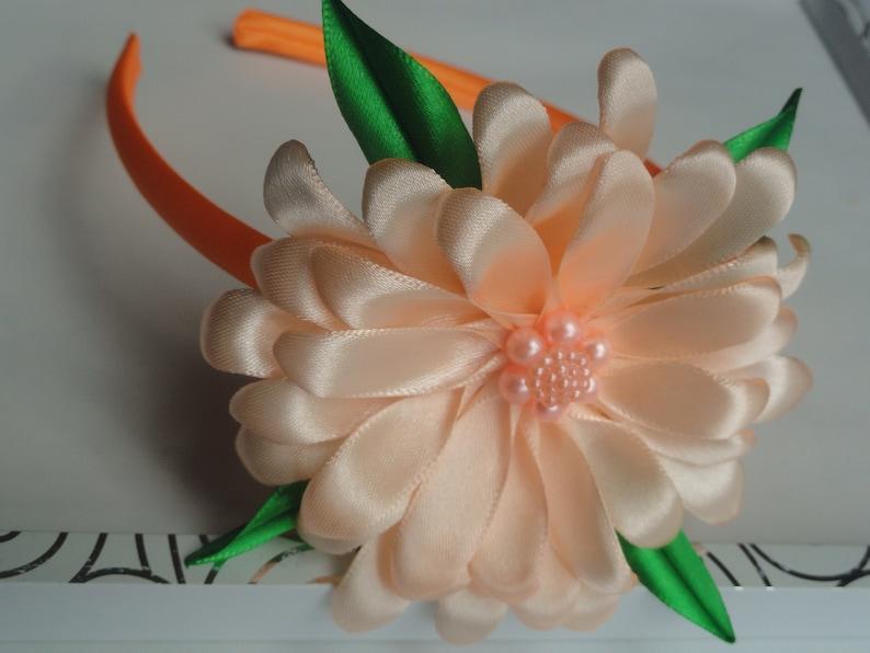 Apricot Loving Camomile Flower Hard Hairband Photo Shut Hairbow Sweetband  Kanzashi Flowers