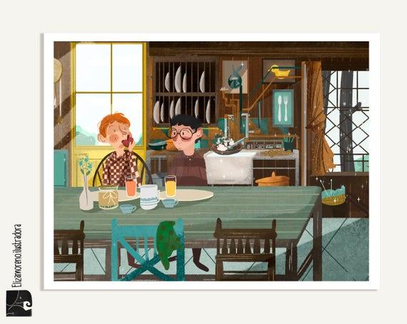 Articles similaires à le terrier des weasley, maison de famille weasley  Weasley, imprimer affiches, Harry potter, Ron weasley, le terrier,  Potterhead,