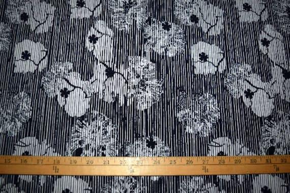 fa75e0dad1 1 yard Floral ITY knit stretch fabric silky smooth By The Yard